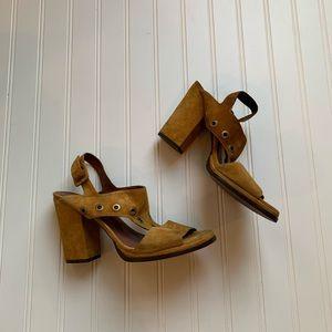 Free people suede open toe heels